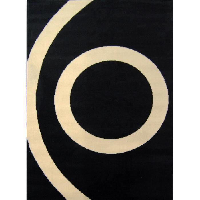 Tapis SPHERE Black 1 Cream - Dim : 160*230 cm pour 45€