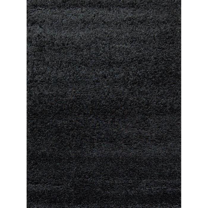 Tapis Shaggy Déco Noir 80x140 40mm pour 20€