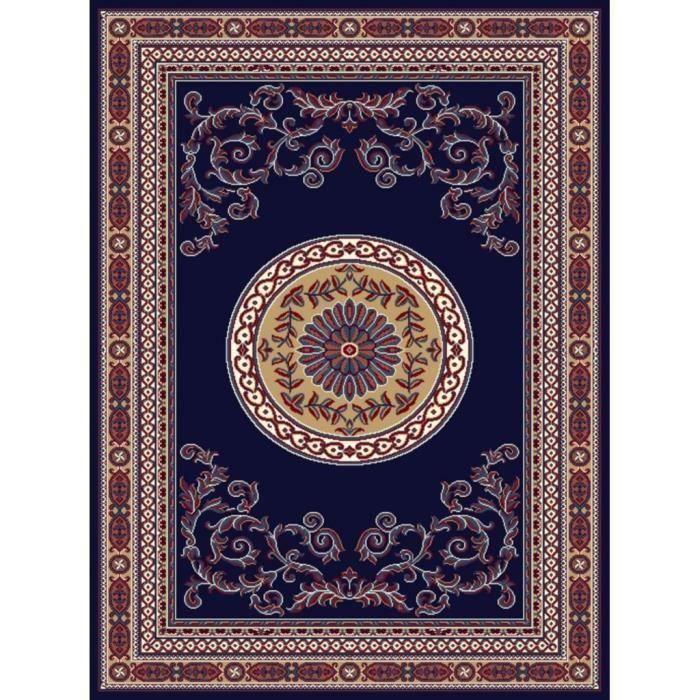 Tapis d'Orient contemporain- 80*150 cm - Bleu nuit pour 15€
