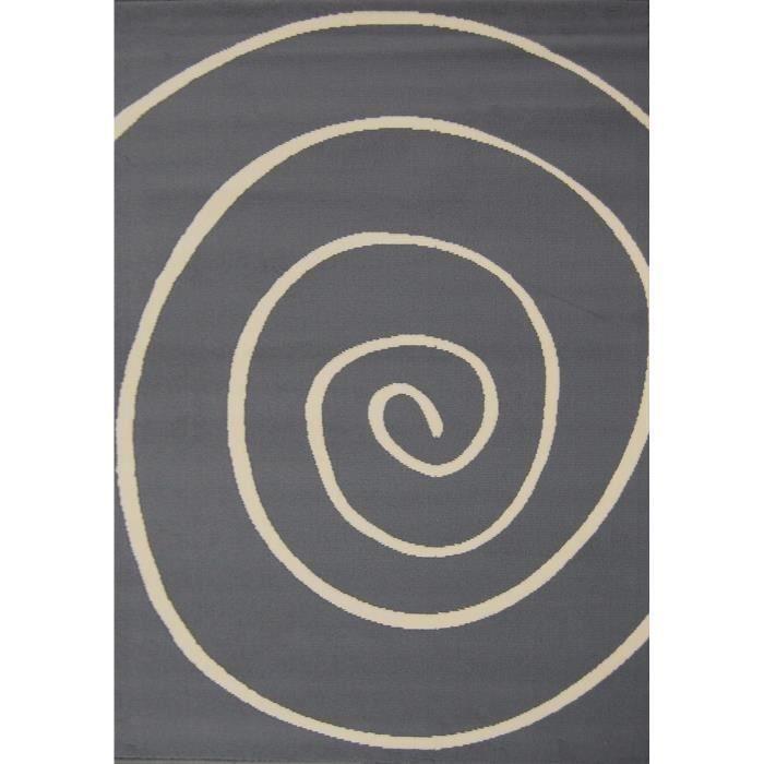 Tapis Spirale gris-beige 120*150 cm pour 17€