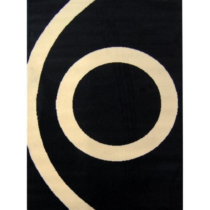 Tapis BLACK & CREAM sphere 120*160 cm pour 20€