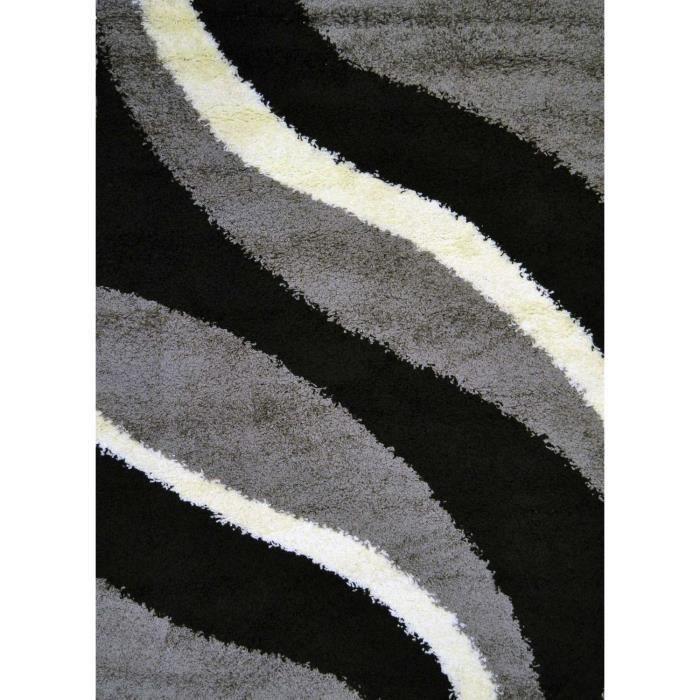 TORINO Tapis shaggy contemporain gris 120x170cm pour 42€