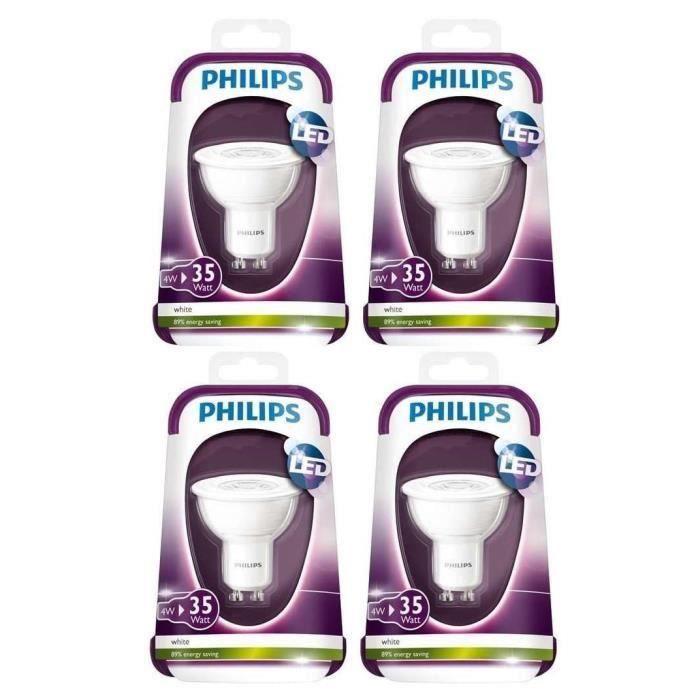 Capsule, 4 Ampoules LED 35W GU10 230V 36D pour 25€
