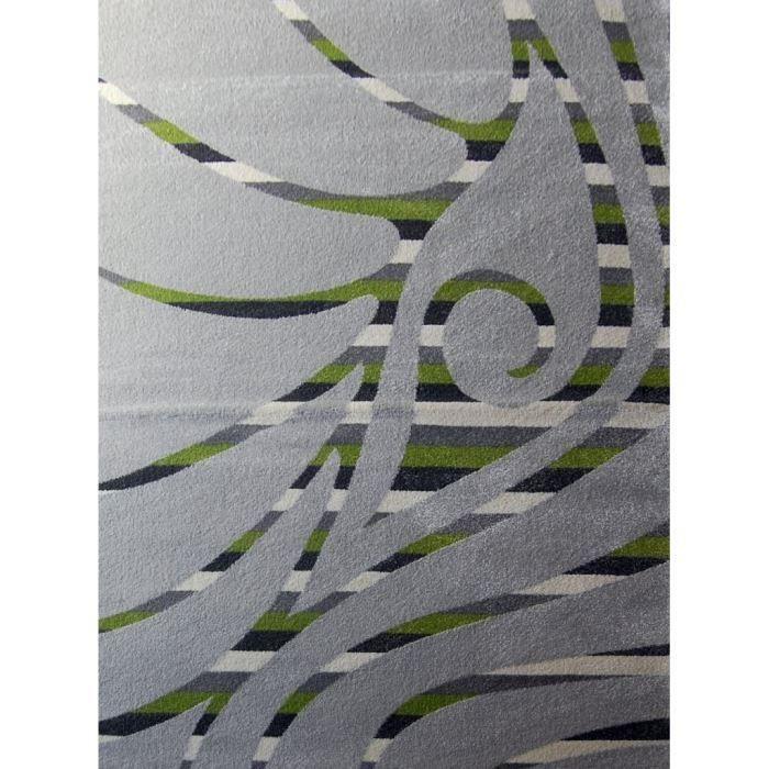Tapis TIME Gris - Vert - Ivoire 160*220 cm pour 73€
