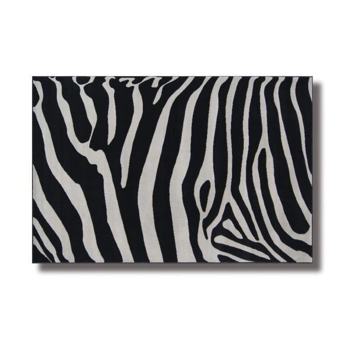 Tapis Zebra Gris Noir 120/170 pour 31€