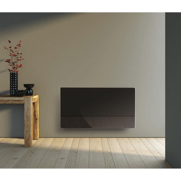 Radiateur rayonnant 1500W Verre Noir pour 95€