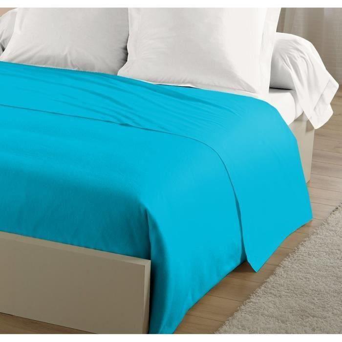 Drap Plat 280x320 Turquoise pour 22€
