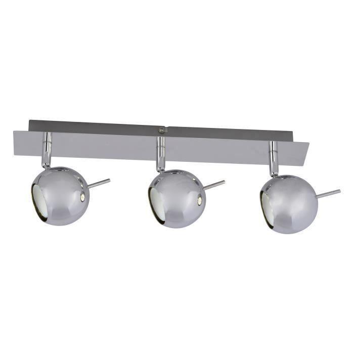 BOULE barre métal 3 spots LED pour 37€