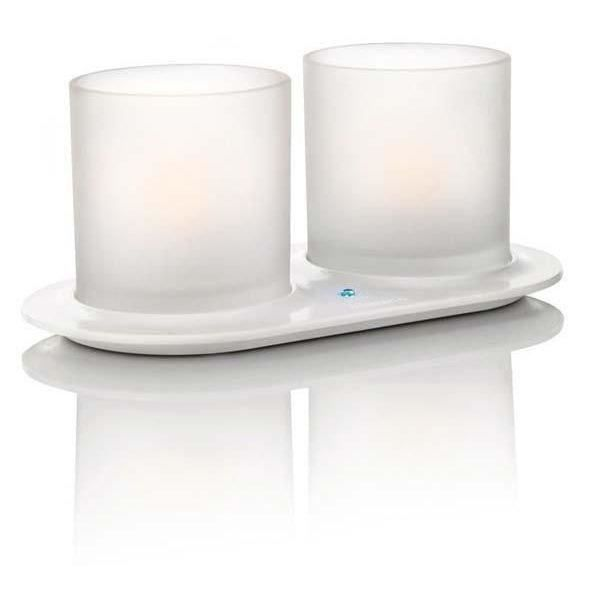 CandleLights 2 set white pour 26€