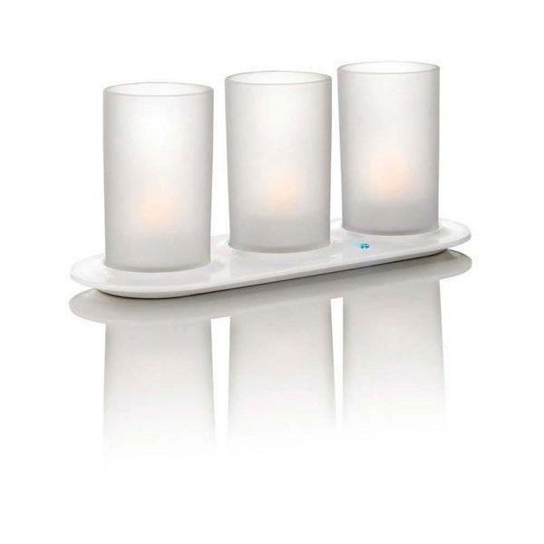 CandleLights 3 set white pour 31€