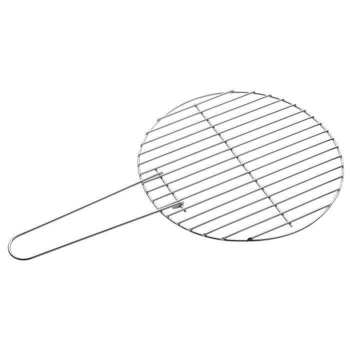 Grille barbecue ronde 34cm pour 5€