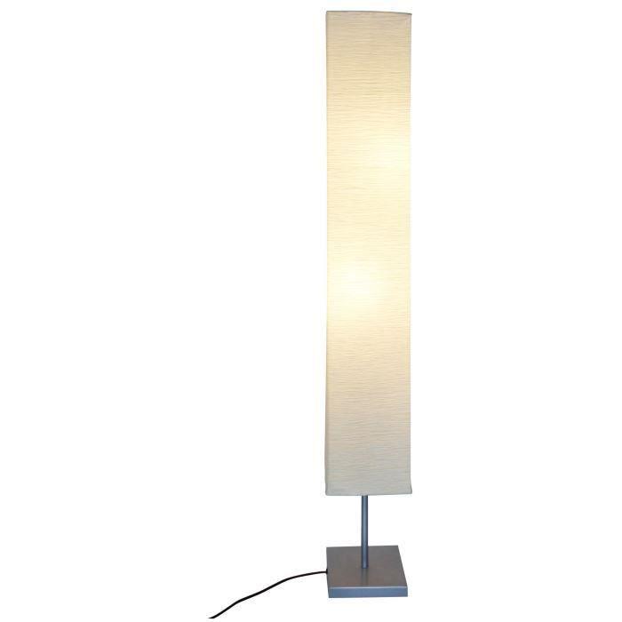 Lampadaire papier de riz base métal H145 pour 20€