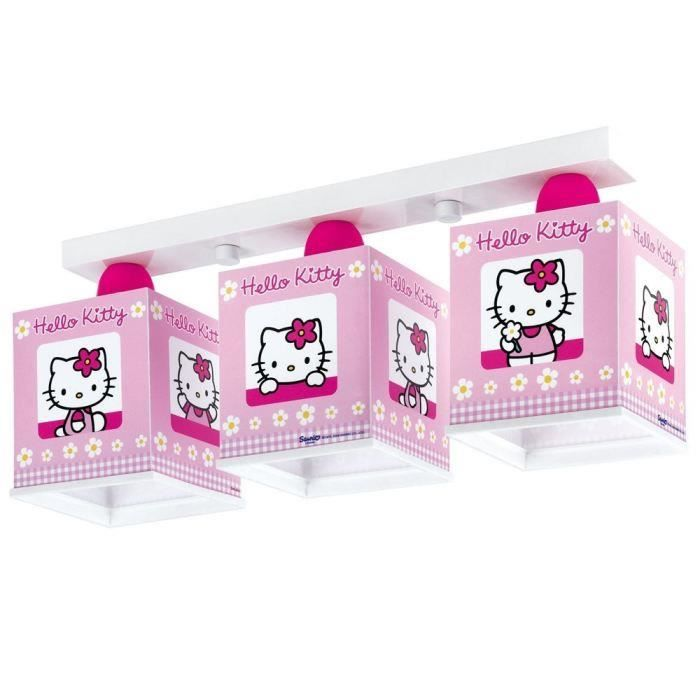 RAMPE 3 LAMPES HELLO KITTY pour 34€
