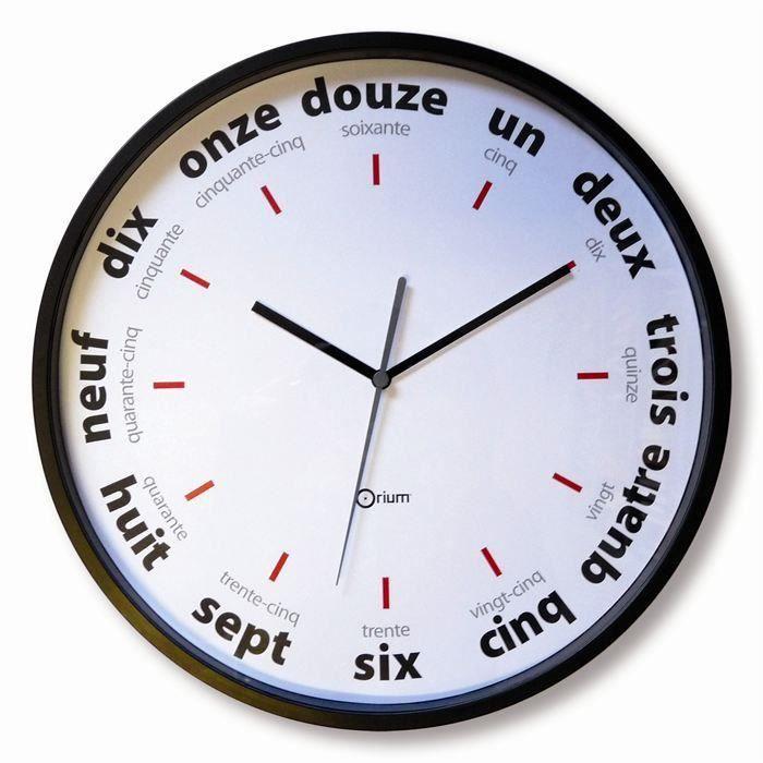 Horloge LETTRES Ø30cm pour 5€