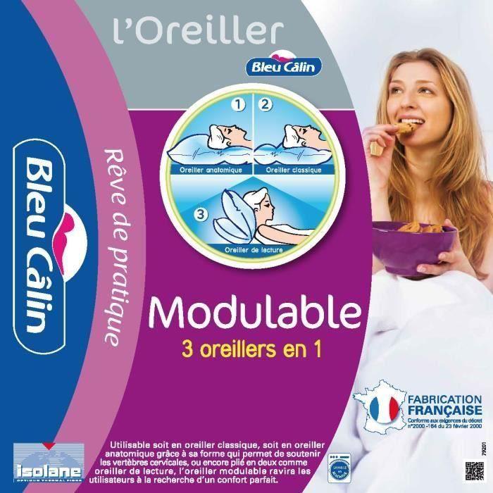 CALIN Oreiller Modulable 65x65cm pour 13€