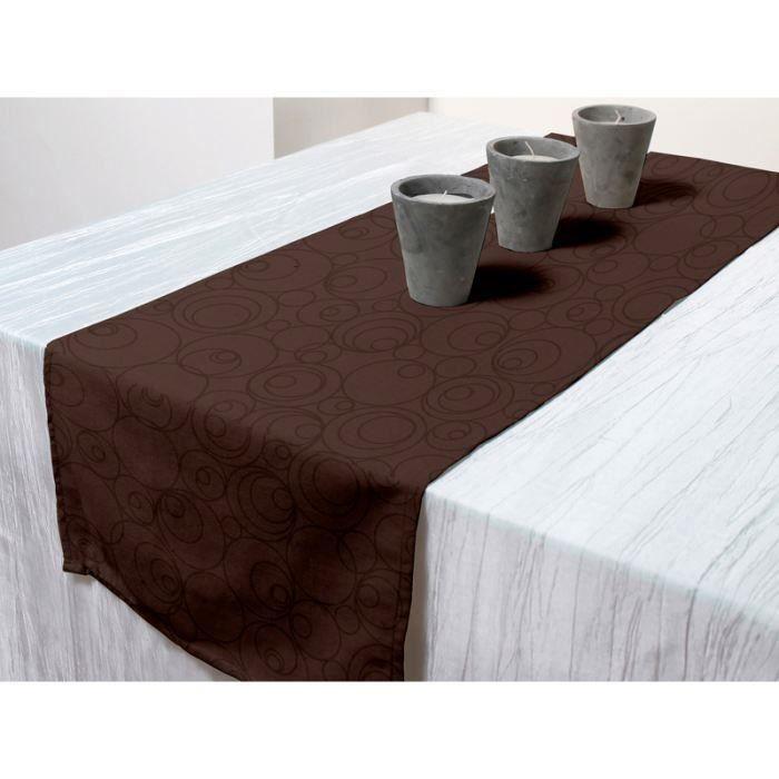 Chemin de table ESPACE Chocolat 40x140cm pour 5€