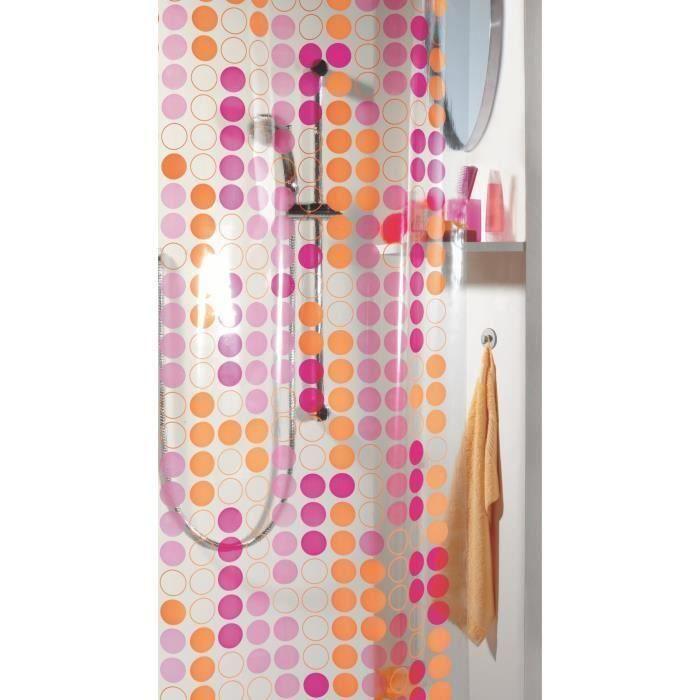 Rideau de douche digital 180x200 pink pour 8€