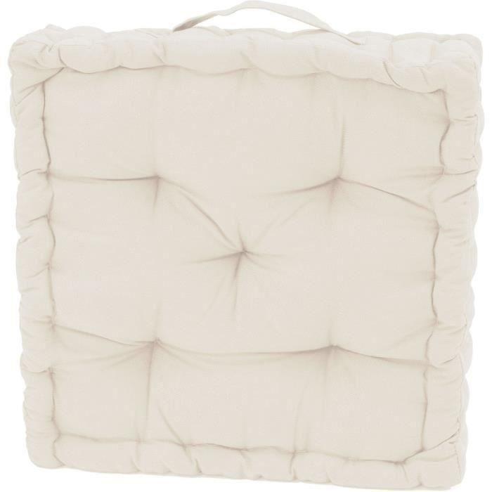Coussin de sol serge ivoire 40x40x10 pour 8€