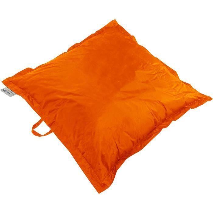 Coussin Pouf XL imperméable orange 120x120 cm pour 38€