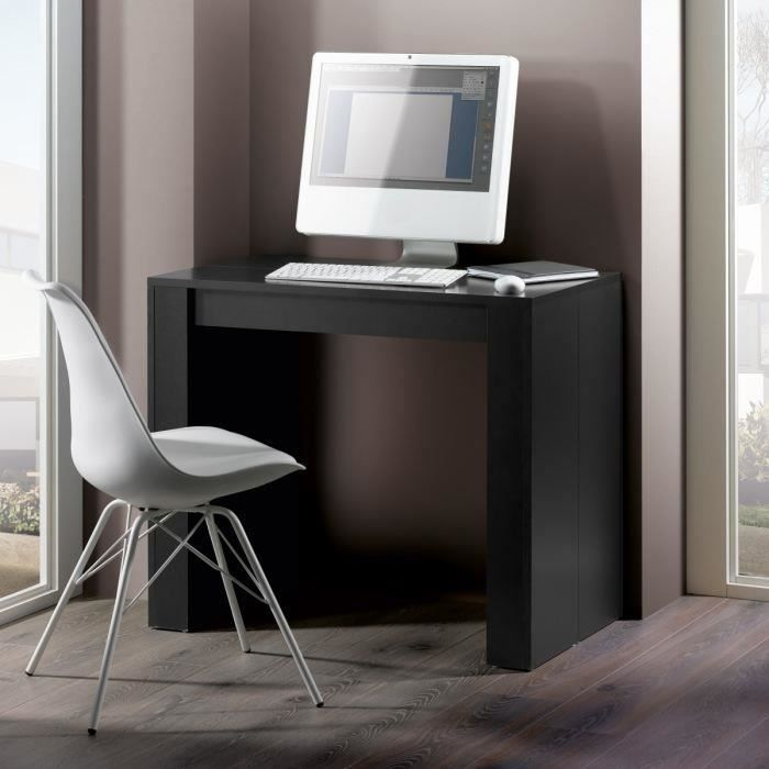 GOOMY Table Console Extensible noire 50 a 270 cm pour 201€