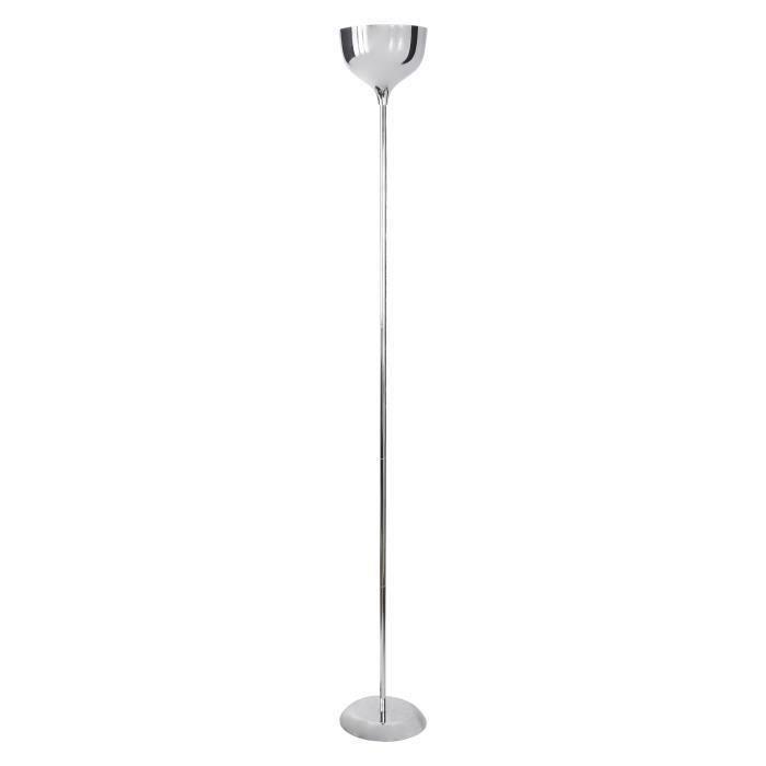 KOLAN lampadaire droit H178 Chrome pour 37€