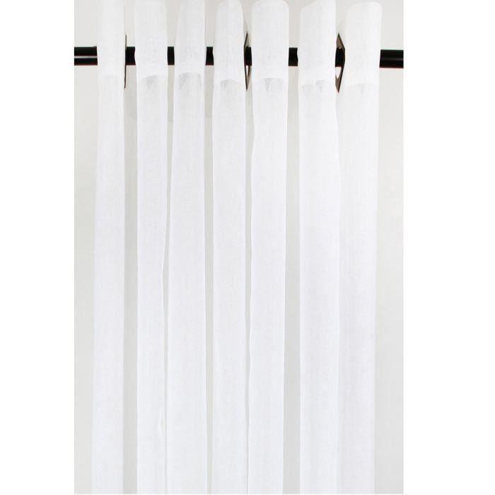 Voilage Uni Blanc 140x240cm pour 18€