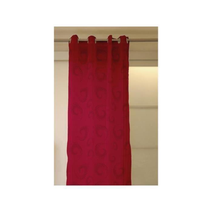 Rideau a oeillets CARGOLINE Framboise 140x250cm pour 13€