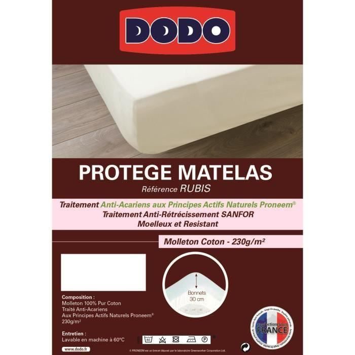 Protege matelas RUBIS 90x190cm pour 24€