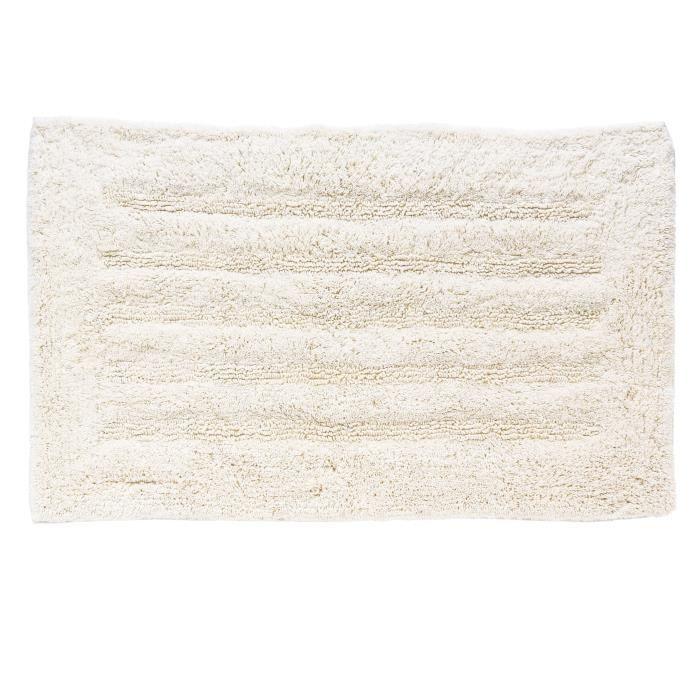 Tapis de bain 100% coton - 50*80 cm - Blanc pour 7€