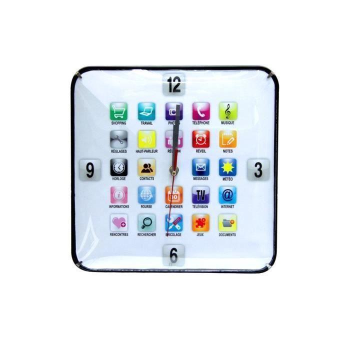 Horloge application blanc 30cm pour 7€