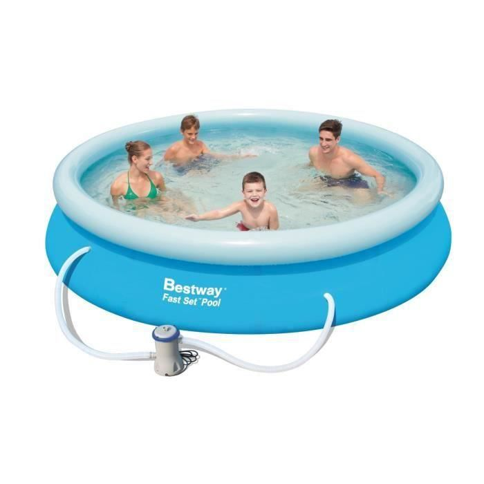 Kit Piscine Ronde Fast Set Pools D 366cm h 76cm pour 64€