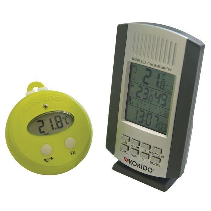 Thermometre KOKIDO THERM'O sans fil avec base pour 33€