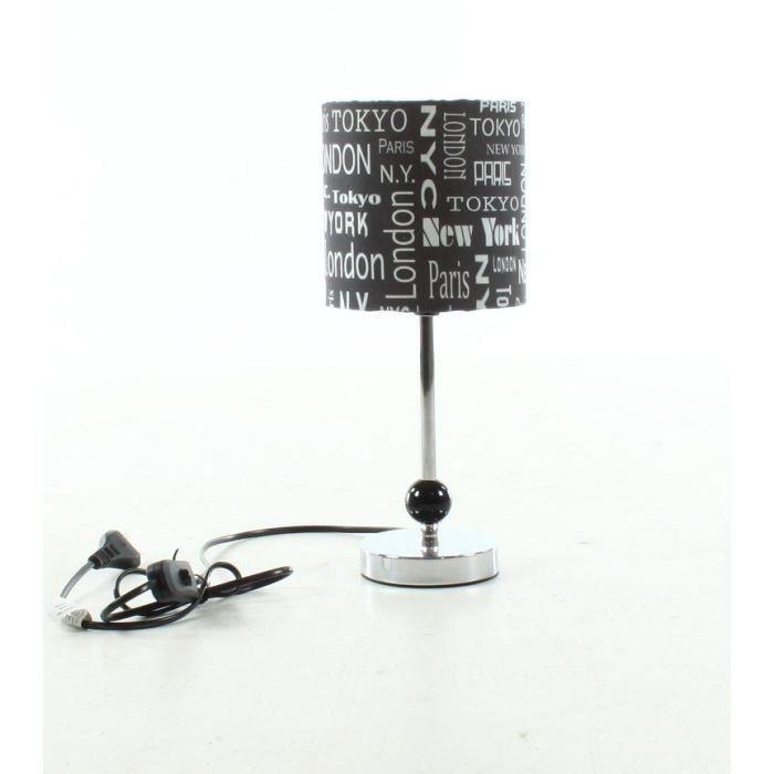 Lampe CAPITALES DU MONDE, hauteur 33.5cm pour 7€