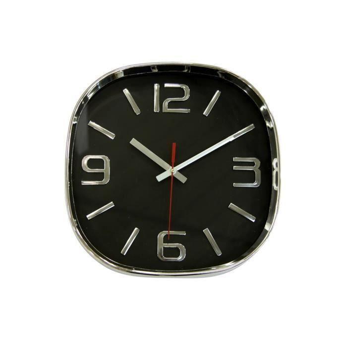 Horloge basic noir 30cm pour 7€