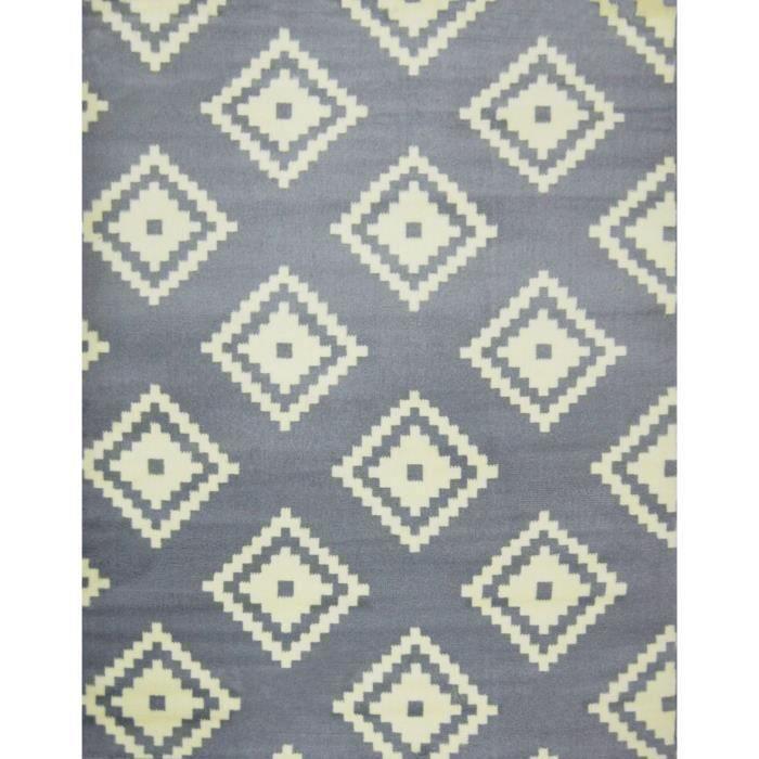 Tapis Graph gris - blanc 160*230 cm pour 40€