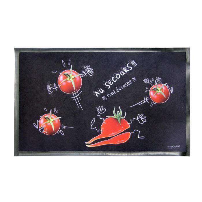 Tapis de cuisine tomate 45x75cm pour 9€