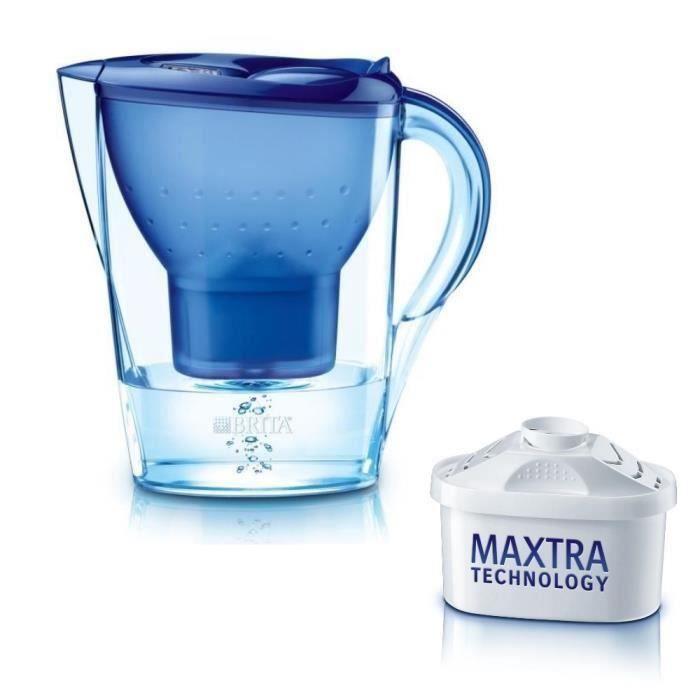 Carafe filtrante marella bleue 1 cartouche incluse moncornerdeco - Carafe filtrante que choisir ...