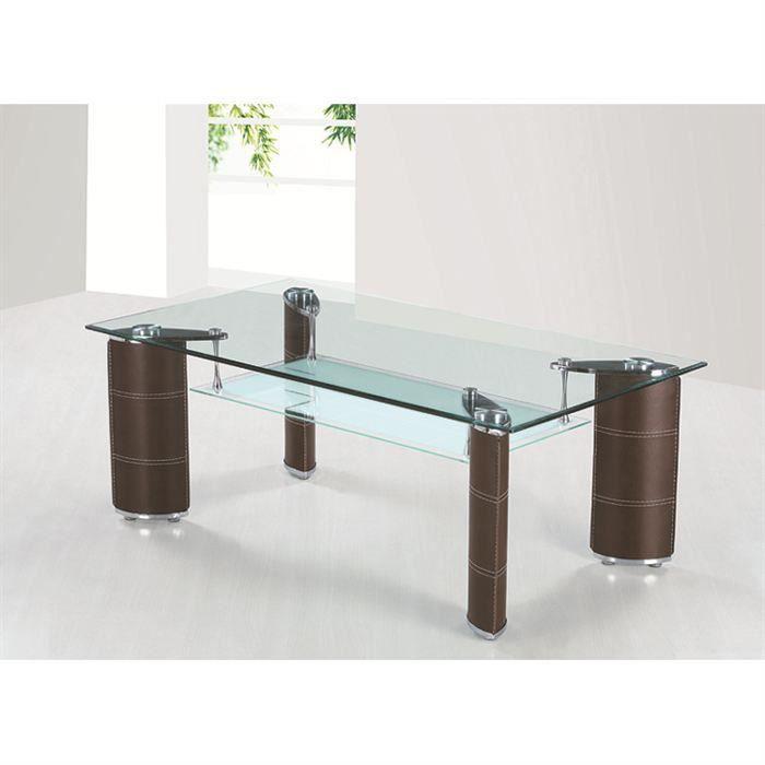 table basse design polyur thane chocolat nina salon. Black Bedroom Furniture Sets. Home Design Ideas