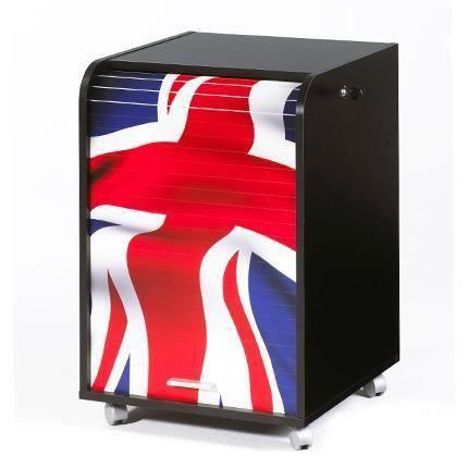 caisson mobile rideau premium noir impressio meubles bon prix moncornerdeco. Black Bedroom Furniture Sets. Home Design Ideas