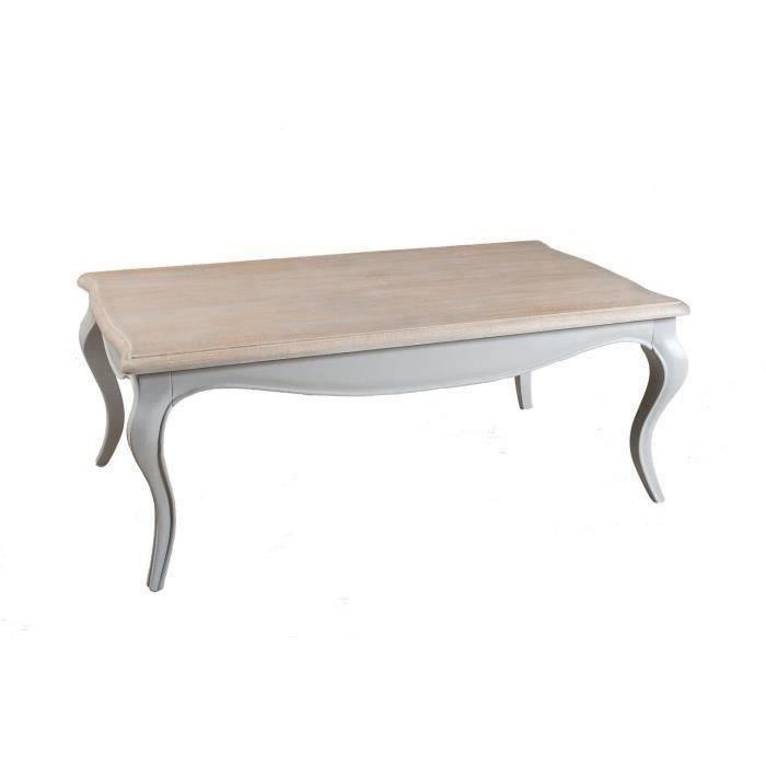 Table basse bleu ardoise en manguier meubles bon prix - Table basse style romantique ...