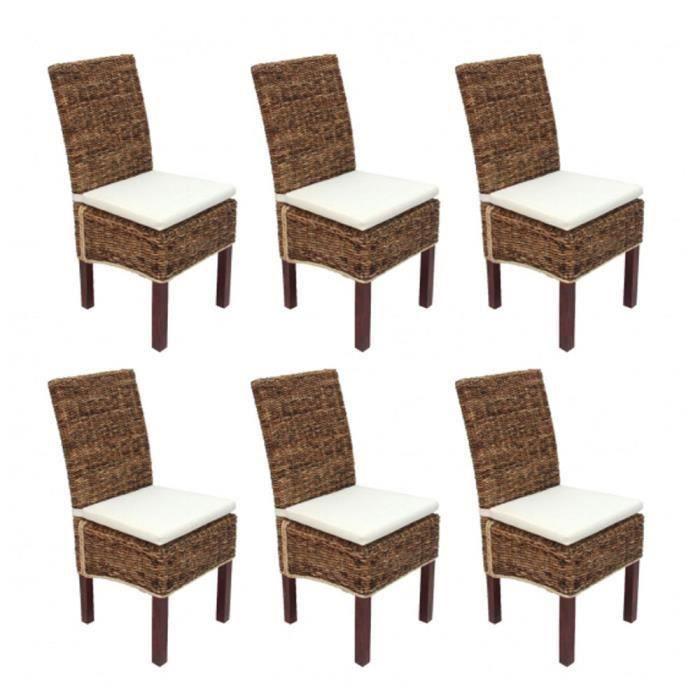 Lot de 6 chaises m69 de salle manger en osier ba bon for Lot de 6 chaises salle a manger