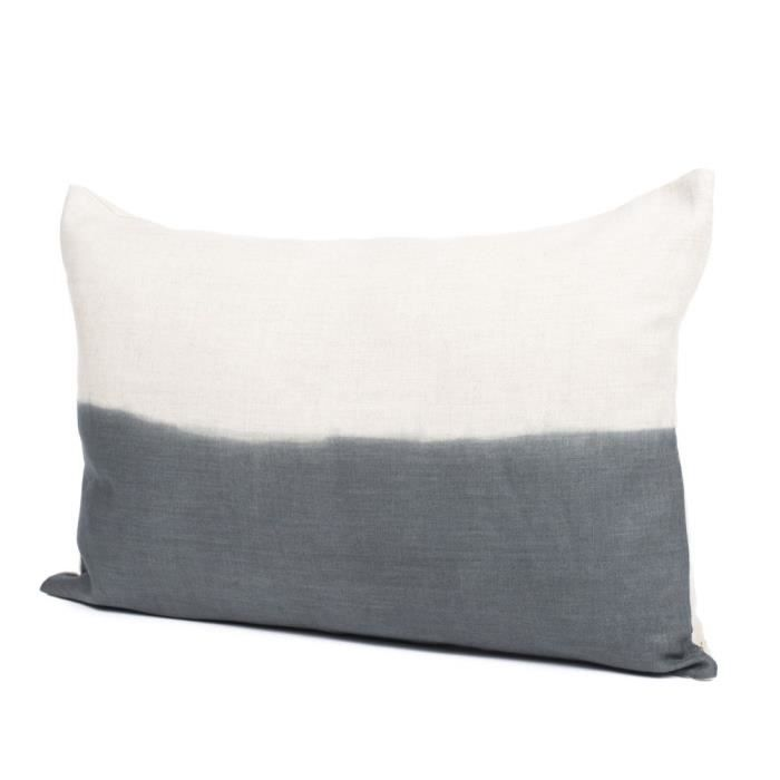 coussin 100 lin 40x60 cm naturel granit tie dye. Black Bedroom Furniture Sets. Home Design Ideas