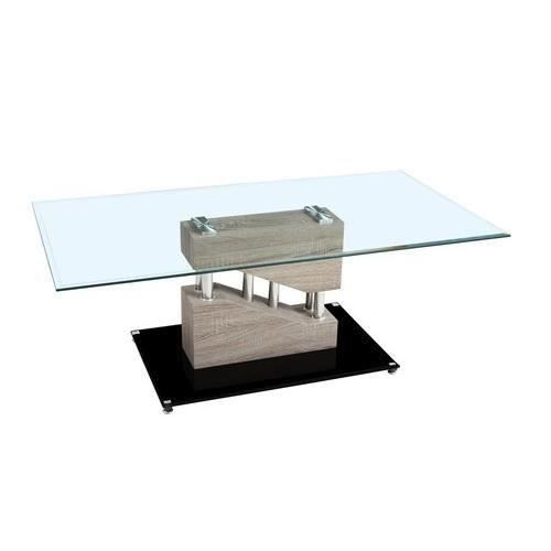 Table basse contemporaine armela bois fonc salon - Table salon contemporaine ...