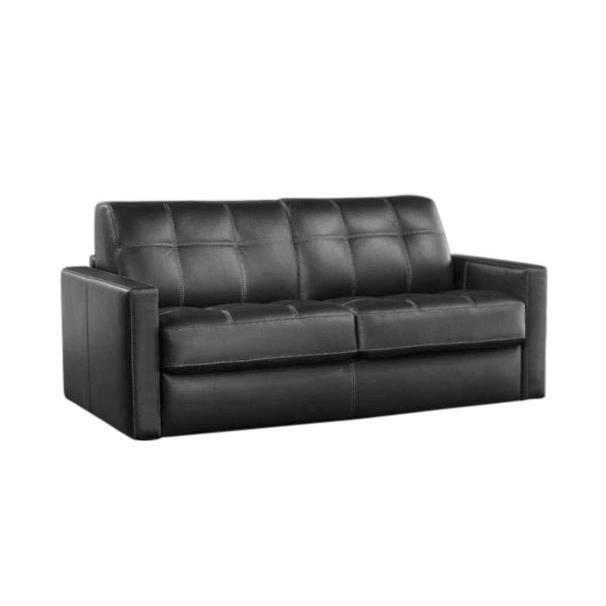 canap convertible tetris tissu gris lit 120x190 salon salle manger bon prix moncornerdeco. Black Bedroom Furniture Sets. Home Design Ideas