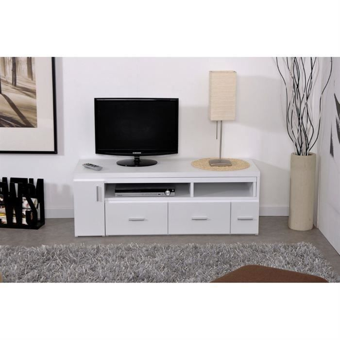 Slide meuble tv extensible blanc ebay - Meuble tv extensible ...