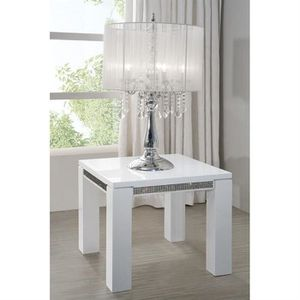 Table D 39 Appoint Laquee Blanche Haute Brillance Salon