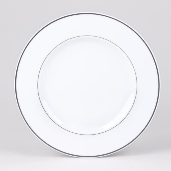 table passion assiette dessert 21cm filet gri moncornerdeco. Black Bedroom Furniture Sets. Home Design Ideas