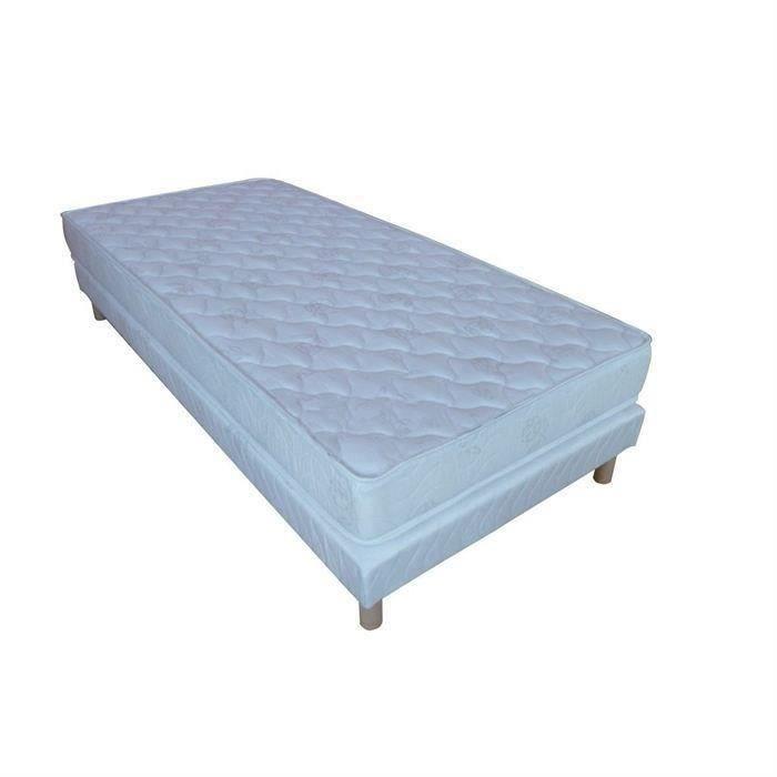 confort design ensemble matelas sommier 90x190cm moncornerdeco. Black Bedroom Furniture Sets. Home Design Ideas