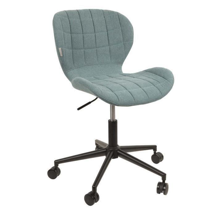 Chaise de bureau design omg couleur bleu salon salle - Chaise de bureau bleu ...