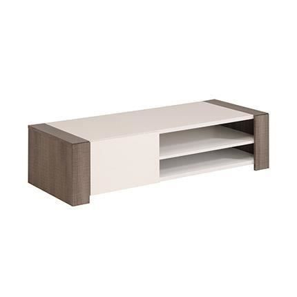 Meuble TV Grey 128cm décor réglisse / blanc - Meubles à ...